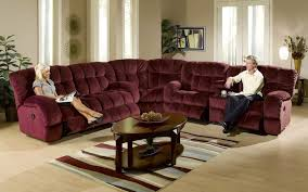 beautiful living room furniture design ideas with purple color sectional sofa recliners and drak brown wooden attractive modern living room furniture