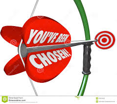 you ve been chosen bow arrow aiming at selection target stock you ve been chosen bow arrow aiming at selection target