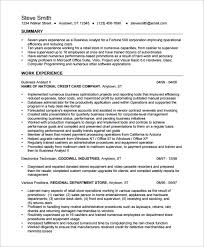 Business Analyst Resume Template         Free Samples  Examples     Template net