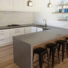 polished concrete wood kitchen