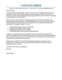 best management cover letter examples livecareer edit