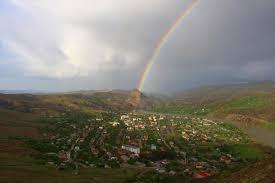 Elazığ Palu'da gökkuşağı şöleni