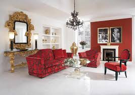 decor red black grey living