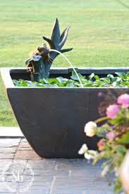 diy patio pond: square patio pond love the cute little frog spouting water stonegableblogcom