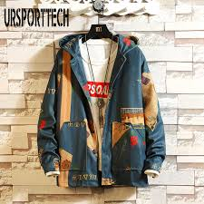 <b>URSPORTTECH</b> Hooded Bomber <b>Jackets</b> Men 2019 Spring ...