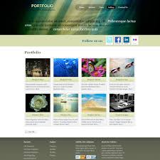 template portfolio screenshot
