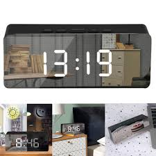 <b>Creative LED Digital</b> Alarm Clock Night Light Thermometer Display ...