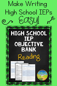 best ideas about goals and objectives in k pecs high school iep goal objective bank for reading