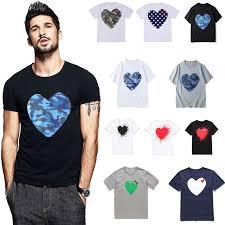 (Have eyes)<b>Summer</b> Couple T shirt Cotton Embroidery Love <b>Peach</b> ...
