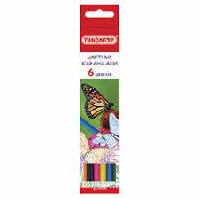<b>Цветные карандаши Пифагор</b> — купить на Яндекс.Маркете