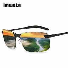 men polarized glasses car driver night vision goggles anti glare polarizer sunglasses driving sun