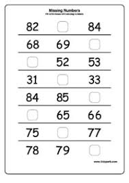 Second Grade Missing Numbers Activity Sheet,Math Worksheets,Number ...Missing Numbers