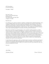 Consulting Cover Letter Gallery - Cover Letter Ideas