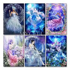 <b>Angel</b> Beauty 5D <b>DIY</b> Diamond Painting <b>Cartoon</b> Fairy Full Drill ...