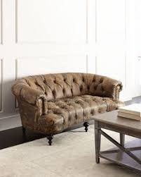 carsontuftedleathersofabyoldhickorytannery channel tufted furniture