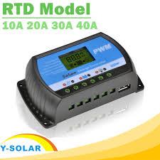 Y <b>SOLAR PWM</b> 10A 20A <b>30A 40A Solar</b> Charge Controller 12V 24V ...