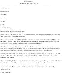 social media manager cover letters   Template   resume social media