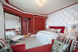 bedroomexquisite interior completed with stunning bedroom decorated with modern bed and sideboard also lamp bedroomexquisite red white bedroom ideas modern