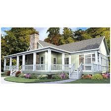 One Story House Plan   Wrap Around Porch   EurohouseOne Story House Plan   Wrap Around Porch