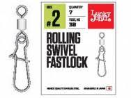 <b>Вертлюг c застежкой Lucky</b> John Rollinig Swivel Fastlock Вертлюг ...