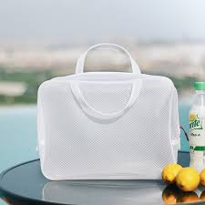 2019 <b>White Waterproof Mesh Swimming</b> Bags For Girls Sac Zip Lock ...