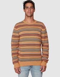 Surfside Stripe <b>Crew</b> by RVCA Online | Oft-gov | Australia