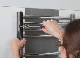 mounted shower lights radiator towel warmer