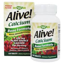 Nature's Way - Alive <b>Calcium Bone Formula</b> Max Absorption 1300 ...