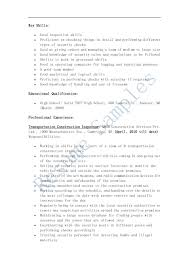 resume construction resume