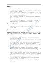 resume construction resume