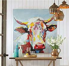 Handmade Colorful Cow <b>Art</b> Animals Pictures Graffiti Texture <b>Palette</b>