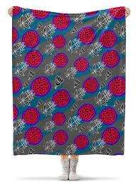 Плед флисовый 130х170 см веселый <b>цветочный узор</b> #2317384 ...