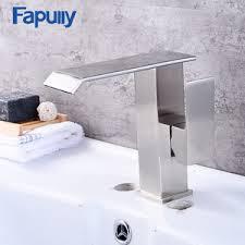 <b>Fapully</b> Brass <b>bathtub shower faucet waterfall bathroom</b> basin <b>faucets</b>