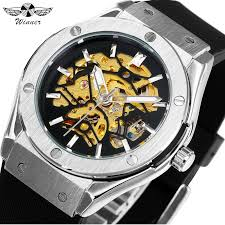 READY STOCK <b>WINNER Men Military Watches</b> Auto Mechanical ...