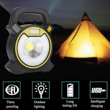 <b>USB Rechargeable COB</b> LED Portable Flood Light Outdoor Garden ...