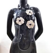 <b>YD&YDBZ</b> New White Flowers Women Pendant <b>Handmade</b> Long ...