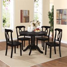 Five Piece Dining Room Sets Dorel Living Aubrey 5 Piece Traditional Height Pedestal Dining Set