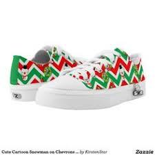 <b>Cute Cartoon Snowman</b> on Chevrons <b>pattern</b> shoes | Zazzle.com ...