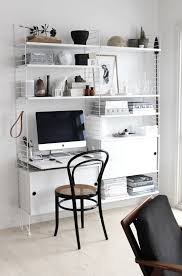 living room desks furniture: string shelving by nils strinning from string furniture home office with string shelving  desk in johannes lovely aalborg apartment in monochrome