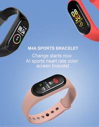 <b>M4 Smart band</b> 4 <b>Fitness</b> Tracker Watch Sport bracelet Heart Rate ...
