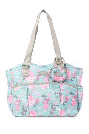 <b>Laura Ashley</b> | Mint Floral Diaper <b>Bag</b> | Nordstrom Rack