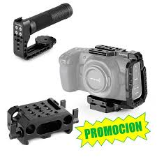 <b>Special</b> Pack BMPocket 4K + top <b>handle</b> + cage + baseplate - Avacab