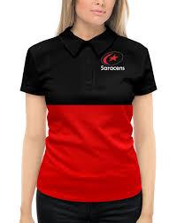 """Рубашка Поло с полной запечаткой """"<b>Регби</b> клуб «Сарацинс ..."""