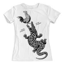 Футболка с полной запечаткой (женская) <b>Крокодил</b> съедает ...