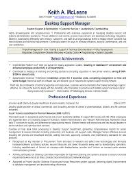 desktop support resumes template desktop support resumes