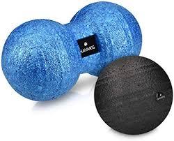 Navaris <b>Set</b> of 2 Massage Balls - <b>Fascia</b> and <b>Peanut Ball</b> Roller ...