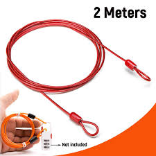 <b>Bike</b> Security Double Loop Cable 2 Meters Strong Braided Steel For ...