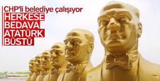 CHP'li Mezitli Belediyesi bedava Atatürk büstü dağıtıyor