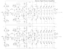 stereo high power audio amplifier ~ schematic diagram circuit on simple circuit schematic power
