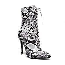 perixir Women Pumps Snakeskin high Heels Boots ... - Amazon.com